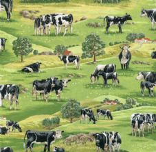 Nutex In the country 103 - cows Fabric